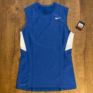 Nike Men's Tight Running Tank -Royal Blue